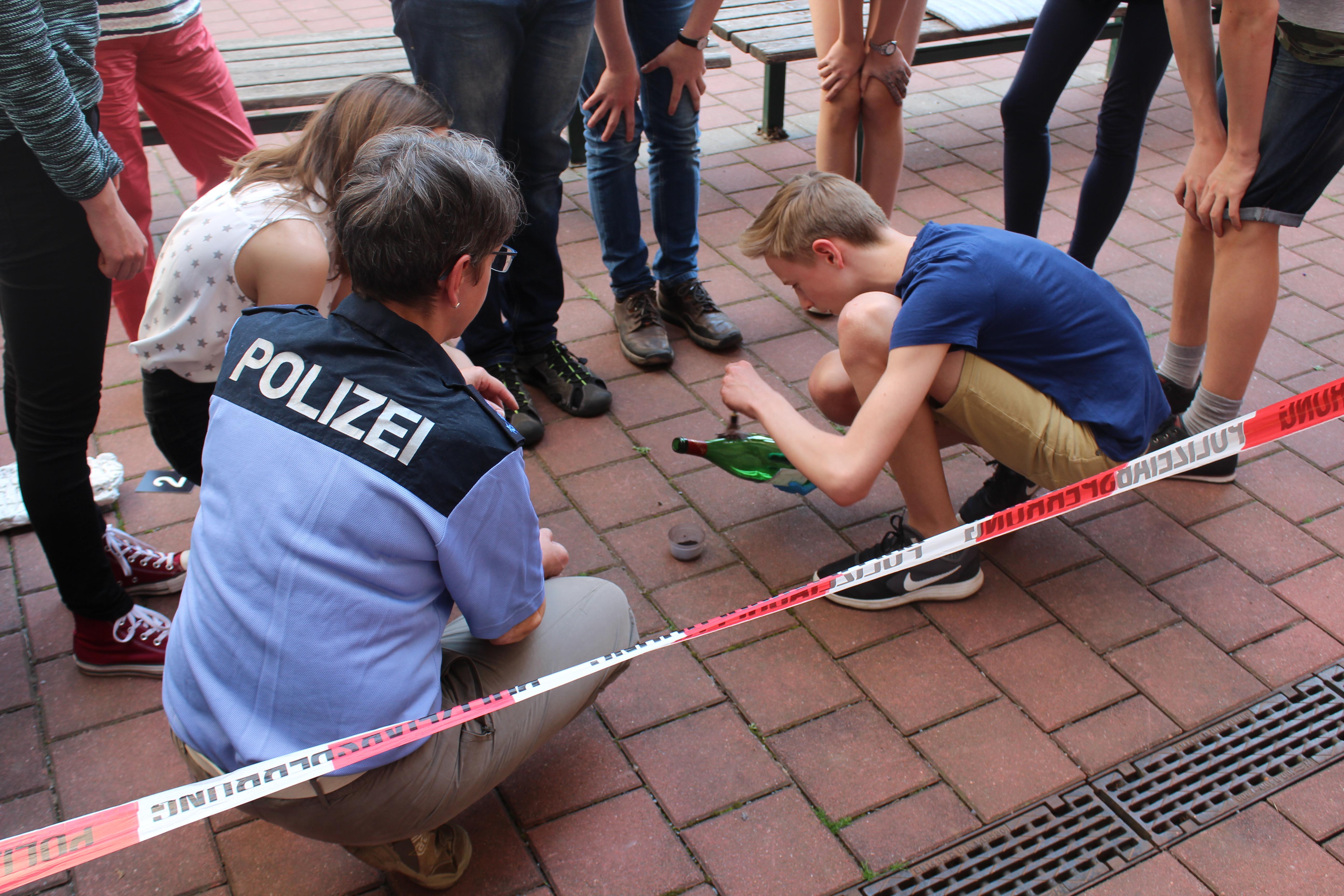 Polizei besucht Schiller-Gymnasium Pirna