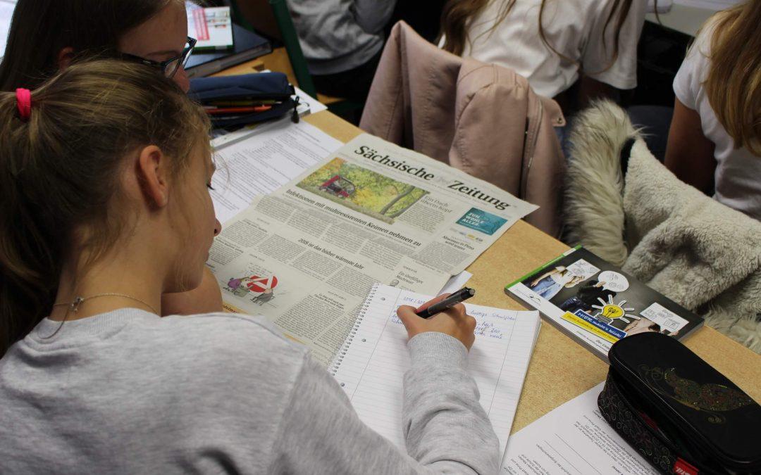 Jugendliche verfassen eigene Zeitungsartikel