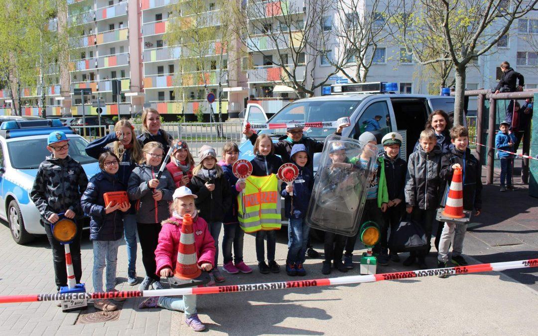 Polizei zu Besuch in Heidenau