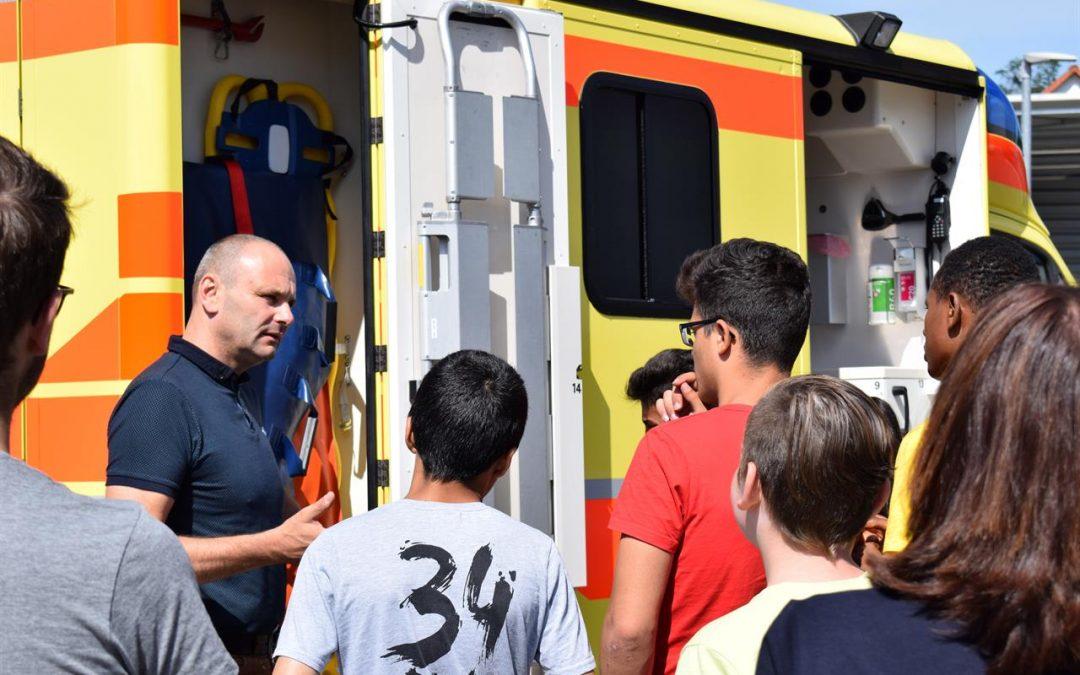 Integrationsklasse besucht DRK Pirna